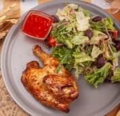 Курча по-сицилійськи з салатом (420г)