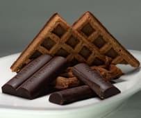 Waffles congelados de chocolate