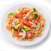 Локшина рисова з грибами і овочами (370г)