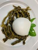 """Mozzarella di Bufala D.O.P con asparagi sott'olio """"Agnoni"""""""