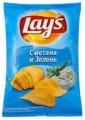 Чіпси Lays зі сметаною та зеленню