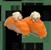 36. Nigiri de salmón con queso (2 uds)
