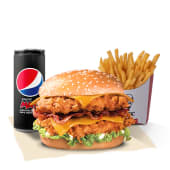 Menú Double Burger Bacon BBQ Cheddar