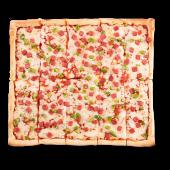 Pizza tradicional de salami y pimiento (grande)