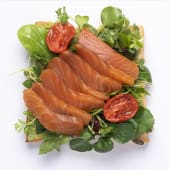 Avo salmon toast