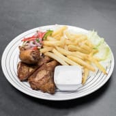 Chicken broiler with chips
