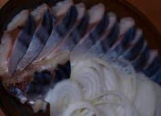 Скумбрія малосольна з цибулею (120г)