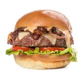 Menú miami half pound burger.