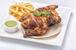 Half grilled chicken & garlic