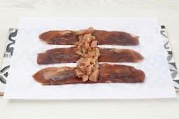 Rollito de lomo de atún con cecina suprema de vaca (120 g.)