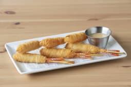Langostino crujiente en pasta kataifi con mayonesa y miel
