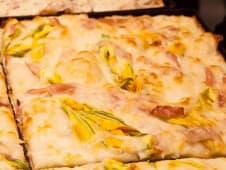 Fiori di zucca e prosciutto cotto o bacon