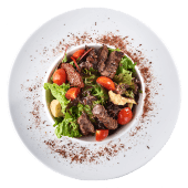 Салат З телятиною під соусом бальзамік (190г)
