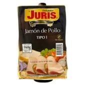 Jamón de pollo premium Juris tipo 1 (160 g.)