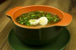Бульйон курячий з яйцем (300г)
