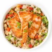 Вок рис з лососем та овочами (260г)
