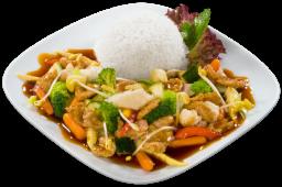 Smażona wieprzowina Chop-suey z warzywami