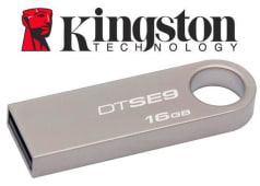 Flash Kingston Memory Pendrive 16Gb Metalico