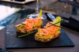 Tartine Guacamole, saumon