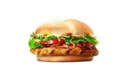 "Бургер ""Барбекю"" с курицей и сыром"