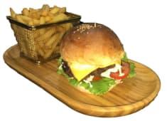 Cheese burger + frites