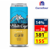 White Cap Lager Can 500ml 41869