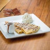 Crepe con cioccolato lattefuso