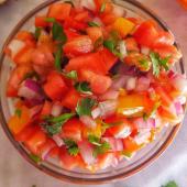 Kachumbari with pepper
