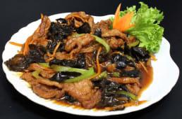 ღორიც ხორცი ჩინური სოკოთი და ბოსტნეულით, E1