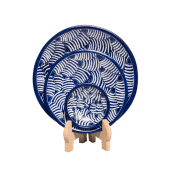 Soapstone Blue Fish Plate Set