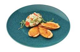 Авокадо в соусі з тигрових креветок (150/80г)