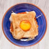 Club Sándwich Jefe con huevo