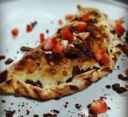 Pizza Doce com Creme de Avelã e Morango
