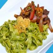 Tallarines al Pesto C/ Lomito