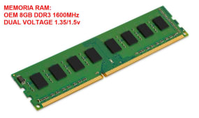 Memoria Ram Ddr3 8gb 1600MHz Para Pc Dual Voltage 1.35v/1.5v
