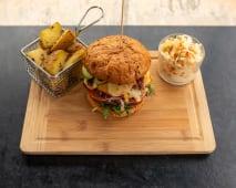 Burger vege + pieczone ziemniaki + surówka colesław 750 g