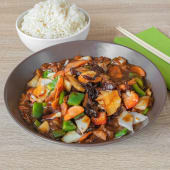 Szechuan junetina, riža