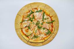 Пицца с семгой и рукколой (30 см.)