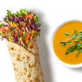 Zestaw Wrap Wołowina Chimichuri z zupą