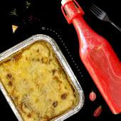 Lasagna cu carnita de pui&Mors de zmeura