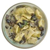 Plin di patate al ragú di funghi e tartufo