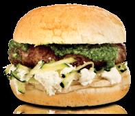 Hambúrguer Requeijão e Pesto