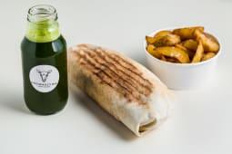 Vegan Kebab + pieczone ziemniaczki + lemoniada domowa