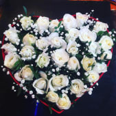 Box Roses blanc