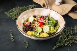 Салат из хрустящих баклажанов и сыром