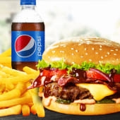 Meniu XL American BBQ Burger de vită