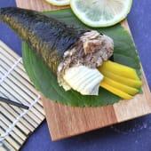 Temaki atún, mango y Philadelphia (1 ud.)