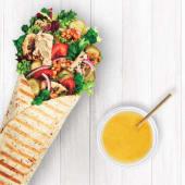 Wrap Green Hummus + Sok