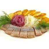 Філе оселедця в ароматній олії з картоплею і цибулею (130/150г)