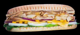 Sándwich de pollo en pedacitos (mediano)